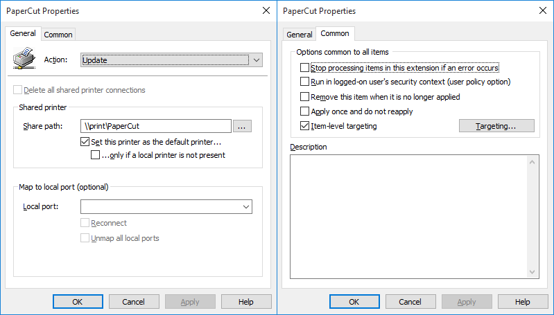 Group Policy Preferences + Preference Item-Level Targeting +