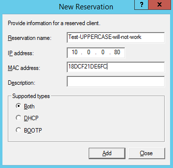 How to allow or deny DHCP server leases by MAC address